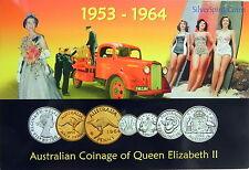 1953-1964 AUSTRALIAN COINAGE OF QUEEN ELIZABETH 11 MINT Australian Coin Set