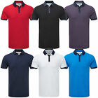 Charles Wilson Premium Blend Cotton Rayon Contrast Collar Polo Shirt New 2015