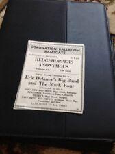 66-4 Ephemera 1965 Advert Ramsgate Coronation Ballroom Hedgehoppers Anonymous M4