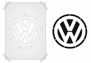 VOLKSWAGON VW STENCIL CRAFTS PLASTIC TEMPLATE 190mic Mylar WALL ART RE-USEABLE
