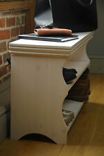 Shoe Storage Rack Bench Distressed White Wash-  The GOOD SHELF Co