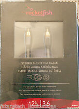 ROCKETFISH STEREO AUDIO RCA CABLE 12FT/3.6M - RF-G1212