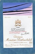PAUILLAC 1GCC ETIQUETTE CHATEAU MOUTON ROTHSCHILD1980 37.5 CL DECOREE §12/06/17§