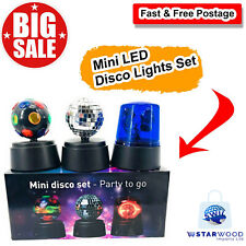 Home Mini LED Disco Lights Set | Disco Party Stage Lightings Balls Crystal Magic