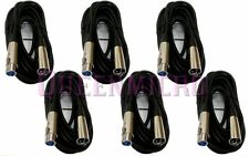 6 Lot 15Ft XLR 3Pin Male Female Extension Mic Microphone Audio Cord Cable 15' Ft