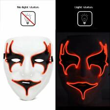 Ansee Halloween Rave Mask Vampire Mask Light Up EL Wire LED Mask for Masquerade