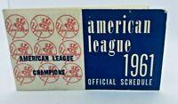 1961 New York Yankees Baseball Schedule Gillette #CB Scarce!