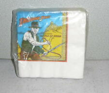 INDIANA JONES and the TEMPLE OF DOOM Party Napkin Set Vintage Pack of 20 Unused
