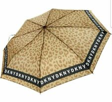DKNY Leopard Print Automatic Up Umbrella