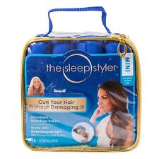 "The Sleep Styler Hair Curlers For Short or Long Fine Hair Mini 3"" Roller 12Count"