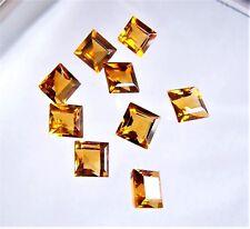 Citrin  Carree Quadrat  7  mm gelb orange ca 1,60 Carat