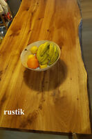 Tischplatte Massivholzplatte Eiche massiv  geölt/natur Baumkante nach mass