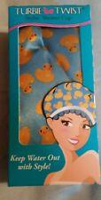 Turbie Twist Stylin Waterproof Shower Cap Rubber Ducky Print
