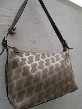 -AUTHENTIQUE (GDHG) petit sac  à main  LANCEL  toile et cuir vintage bag (T)BEG