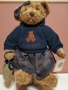 RETIRED Russ - Vintage Edition, Lady Laine Bear, 14: tall, Brown Plush, Tags