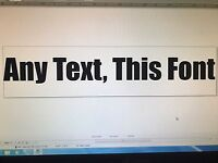 "ANY TEXT Vinyl Decal 8.5"" Gloss White Window Bumper CUSTOM Car Sticker jdm"