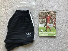 * Mens Vintage 80's Adidas Shorts - Black -Trefoil - soccer New in Package *