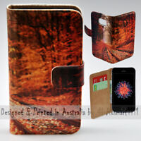 For Apple iPhone Series - Autumn Railway Theme Print Mobile Phone Case Cover
