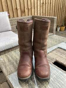 Mens Leather Hunter Boots Size 8