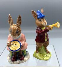"New ListingRoyal Doulton Bunnykins Figurines, Db11 ""Rise & Shine"" and Db2 ""Helping Mother"""