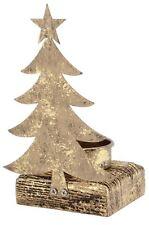 Gold Tea Light Holder Christmas Candle Decoration ~ Christmas Tree Tealight