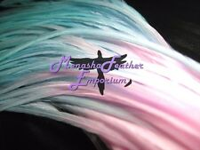 Feather hair extensions tie dye Premium pastel solids mint , baby blue  lt pink