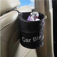 Car Bin Trash Portable Can Garbage Rubbish Holder Auto Dust Mini Case Waste Box