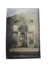 Rare 12-Star Patriotic American Flag Tintype Photograph 1850s USA Antique