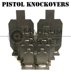 Steel Shooting Targets - 3/8in IDPA Pistol Knockovers - 10pcs - Metal Targets