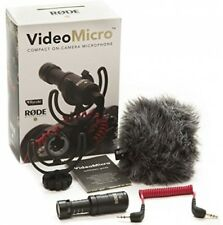 RODE VideoMicro Compact On-Camera Microphone DSLR Blogger Clear Mic Pro Video