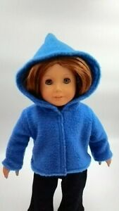 """Blue Fleece Hoodie 18"""" Doll Clothes Outfit Fits American Girl dolls"""