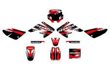 Aufkleber, Dekor Schwarz Rot f. Pit Bike,Dirt Bike CNKO-125-II,CENKOO-170,CRF-70