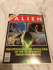 RIDLEY SCOTT ALIEN VINTAGE POSTER MAGAZINE ISSUE 1 SPACE JOCKEY RARE US EDITION
