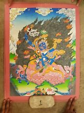 PALDEN LHAMO Thangka (Thanka). Choose the Color of the Brocade for the Thanka