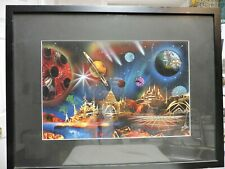 Spray Paint Art Universe and Planets Theme Signed Original