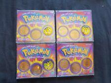 x4 Packs of Pokemon Battling Coin Game Nintendo Hasbro 1999 1 is SEALED