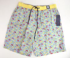 d4371b570d5 Mens Tommy Hilfiger Swim Trunks sz M L yellow light blue NEW mini floral  pattern