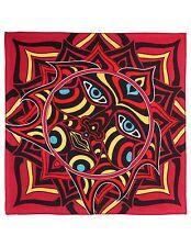 Red Sun Face Bandana Bandanna Mothman Mural Art Hanky Doo Rag Trippy Face Mask