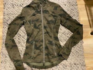 Lululemon Green Camo Define Jacket - Size 2 In Great Condition