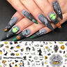 Halloween Theme Blume Blätter Nagel Sticker 3D Nail Art Decals Tipps Dekoration