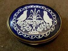New listing Vintage Bilston And Battersea Halcyon Days Doves Trinket/pill/Snuff Enamel Box