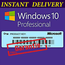 INSTANT DELIVERY WINDOWS 10 PRO -PROFESSIONAL 32 /64 BIT ACTIVATION KEY EU/USA