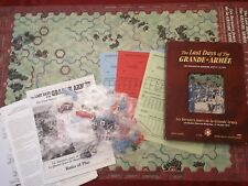 Jeu de plateau wargames THE LAST DAYS OF THE GRANDE ARMEE FOUR DAYS OF WATERLOO