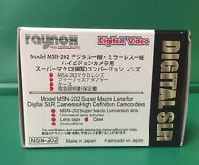 Raynox MSN-202 Macro Lens 52 55 58 62 67 mm JVC GZ-HD300 HD320 HM200 HM400 HM550