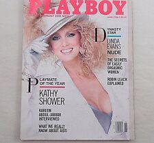 June 1986 Playboy Magazine Linda Evans Kareem Abdul Jabbar Robin Leach