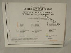 USDA Forest Service Topographical Map CUSTER NATIONAL FOREST Montana 1982 VTG