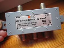 SDI diviseur 4Sortie-SAT-DiSEqC-Schalter 4-1-1Entrée--Frequenz 950-2300MHz- NEUF