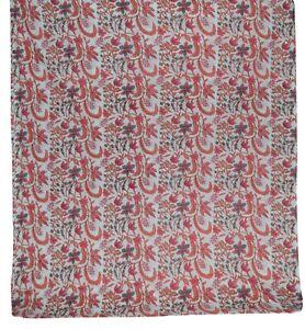 Natural Printed Handmade Sanganeri Vintage Hand Block Print Cotton Fabric 5 Yard