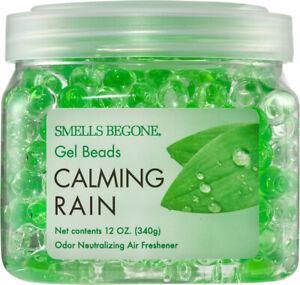 SMELLS BEGONE Odor Eliminator Gel Beads - 12 Ounce - Calming Rain Scent