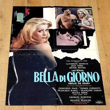 BELLA DI GIORNO poster manifesto affiche Catherine Deneuve Belle de jour Buñuel